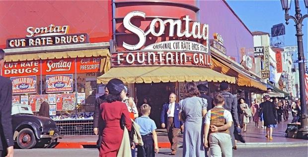 Sontag Drugs - Corner Of Hollywood Blvd & Cherokee Ave