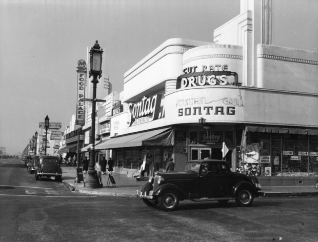 Sontag Drug Store - Corner Of Wilshire Blvd. & Cloverdale Ave., Los Angeles, CA (1939)